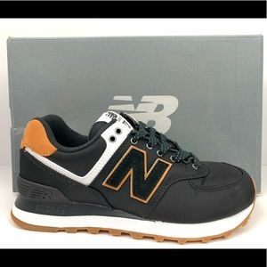 New Balance 574 Women's Sz 6.5 NIB Black/Brown